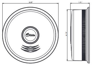 Đầu báo khói thông minh Kidde kết nối không dây P4010DCS-W
