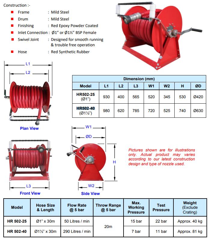Vòi chữa cháy Rulo Multron HR502-25 và HR502-40