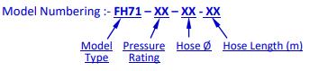 Vòi chữa cháy,Voi chua chay Multron FH71-10 (DN50 & DN65)
