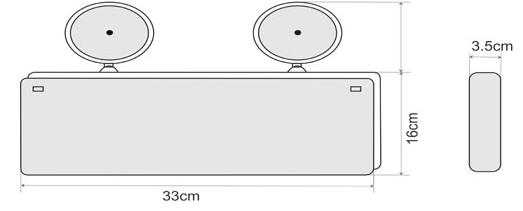 Đèn lối thoát KT-730 (1 MẶT)