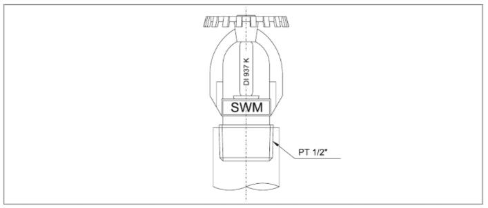 Đầu phun sprinkler Sewoong hướng lên SWU-1 và SWU-2