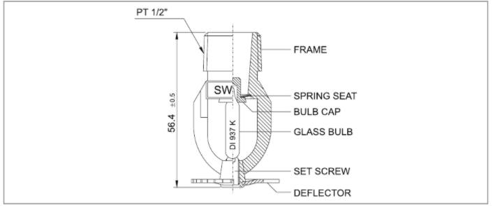 Đầu phun sprinkler hướng xuống Sewoong hàn quốc SWP-1 và SWP-2
