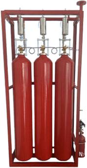 Thiết bị chữa cháy CO2 70L 60s có thiết bị đo lường