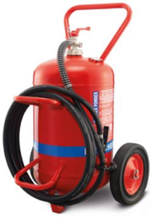 Bình cứu hoả chống ăn mòn bột khô ABC/Monnex 50kg 75kg,Bình chữa cháy xe đẩy