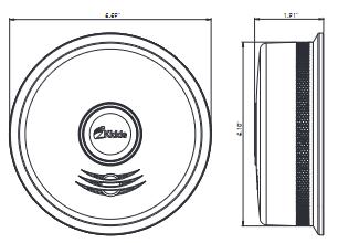 Đầu báo khói và carbon Monoxide P4010DCSCO-W kết nối pin năng lượng