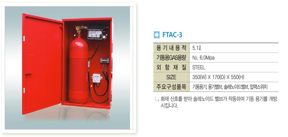 Bình xả khí kích hoạt N2 Forttec FTAC-3