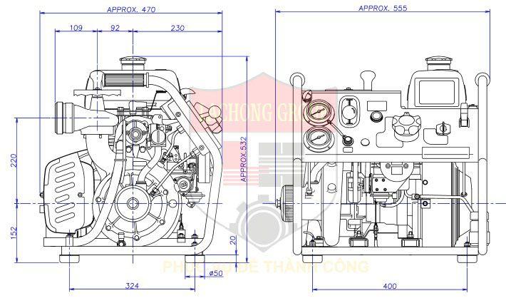 Máy bơm chứa xăng Tohatsu V20 D2s
