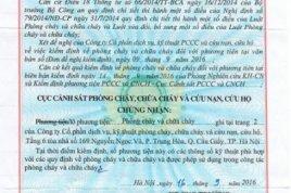 Bảng giá Phí Dịch vụ kiểm định thiết bị pccc, Công Ty Pccc Đông Nam